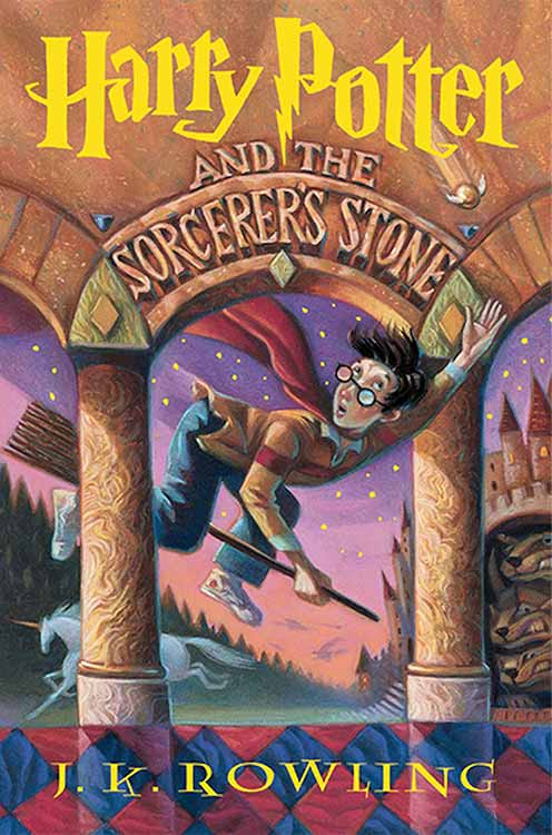 Harry Potter and the Sourcerer's Stone book cover